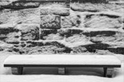 Snowstorm Art - Snow on Bench by Robert Ullmann
