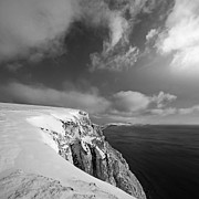 Snow On Highdown, Freshwater, Isle Of Wight Print by s0ulsurfing - Jason Swain