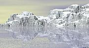 White Pastels Metal Prints - Snow On The Coast Metal Print by Wayne Bonney