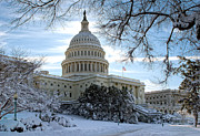 Beltway Prints - Snow on the Hill Print by John Pattenden
