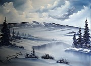 Snow On The Range Print by John Koehler