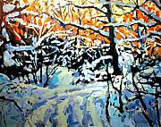 Winter Paintings - Snow Road by Brian Simons