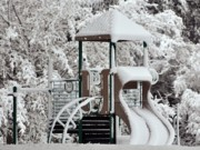 Kiddie Posters - Snow Slide Poster by Al Powell Photography USA
