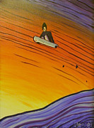Snowboarding Paintings - Snow Surfer Series Number One by Matthew Stennett