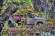 Country Scenes Metal Prints - Snow Truck  Metal Print by Emily Stauring