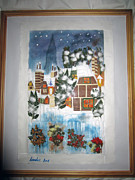 Invitations Painting Originals - Snow Valley by Jadranka M