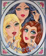 Goldilocks Painting Framed Prints - Snow White and Friends Framed Print by Nancy Salamouny