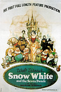 Motion Picture Framed Prints - Snow White and the Seven Dwarfs Framed Print by Nomad Art and  Design
