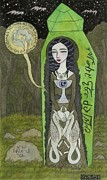 Williams Mixed Media Posters - Snow White in her Glass Coffin Poster by Bethy Williams