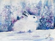 Winter Scene Paintings - Snow White by Lucia Del