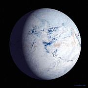 Mass Effect Metal Prints - Snowball Earth Metal Print by Chris Butler