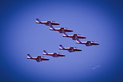 Planes Acrylic Prints - Snowbird V Formation Acrylic Print by DigiArt Diaries by Vicky Browning