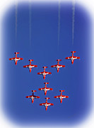Stunts Posters - Snowbirds Above the Beach Poster by DigiArt Diaries by Vicky Browning