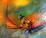 Sports Art Mixed Media - Snowboarding 03 by Miki De Goodaboom