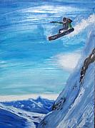Snow Board Prints - Snowboarding Print by Scott Wilson