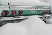 Green Color Art - Snowbound Chevy VIII by Elizabeth Hoskinson