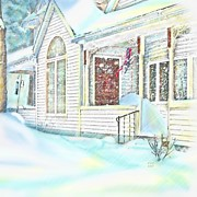 Snowstorm Greeting Cards Posters - Snowbound  Poster by Earl Jackson