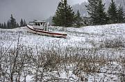 Tugboat Posters - Snowbound Poster by Idaho Scenic Images Linda Lantzy
