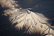 Snow-covered Landscape Prints - Snowcovered Volcano Andes Chile Print by Colin Monteath