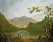 Fishing Painting Posters - Snowdon Poster by Richard Wilson