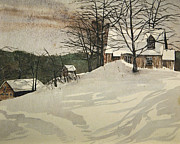 Snowstorm Paintings - Snowed In by Rhodes Rumsey