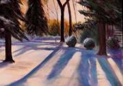 Snow Pastels Originals - Snowfield by George Grace