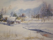 Northern Michigan Paintings - Snowfields by Sandra Strohschein