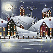 Naive Paintings - Snowflake Cove by Catherine Holman