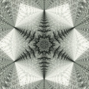 Snowflake Digital Art Posters - Snowflake Kaleidoscope III Poster by Laura Mountainspring