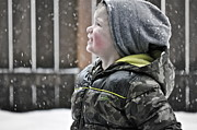Winter Storm Photos - Snowflake Thoughts by Gwyn Newcombe