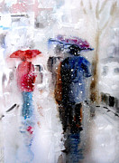 City Photography Paintings - Snowing in the city by Steven Ponsford