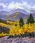 Fall Aspen Originals - Snowing in the Mountains by John Lautermilch