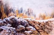 Winter Scene Mixed Media - Snowline by Kel Letvinchuck