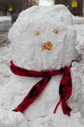 Snowstorm Art - Snowman 96th Street and Pa3k Avenue 3 by Robert Ullmann