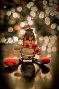 Snowman Photos - Snowman Christmas Ornament by Kelly Wade