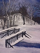 Snow Scence Prints - Snowstorm in Ohio Print by Christy Brammer