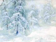 Snowstorm Paintings - Snowstorm by Joy Nichols