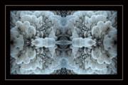 Snowstorm Kaleidoscope Print by Joan Carroll