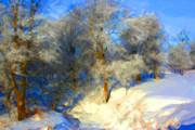 Snowy Creek Etc Print by Julie Lueders