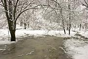 Rivers Ohio Prints - Snowy Day Print by Amanda Kiplinger