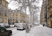 Winter Roads Prints - Snowy Day in Paris Print by Louise Heusinkveld