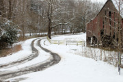 Driveways Prints - Snowy Days Print by Michael Barbee
