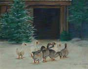 Snowy Geese Print by Susan Fuglem