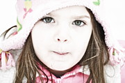 Little Girl Photos - Snowy Innocence by Gwyn Newcombe