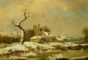 Winter Scenes Art - Snowy landscape   by John Cranch