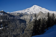 Mt Rainier National Park Prints - Snowy Mountain Print by Jim Chamberlain