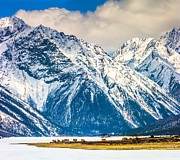 Tibet Prints - Snowy Mountains By Ranwu Lake, Tibet China Print by Feng Wei Photography