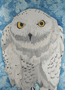 Bird Of Prey Art Paintings - Snowy Owl by Kathryn Pinkham