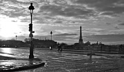 Paris Metal Prints - Snowy Paris Metal Print by Jarett Boskovich