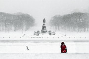 Benjamin Franklin Parkway Photos - Snowy Parkway - Philadelphia by Colleen Joy